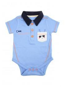 Baby Boys Blue Caterpillar Bodysuit