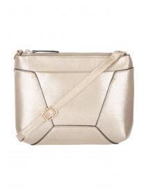 Womens Gold Crossbody Slip Bag