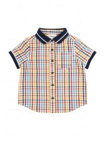 Baby Boys Check Polo Shirt
