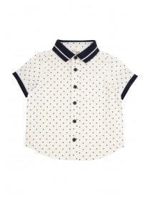 Baby Boys White Triangles Polo Shirt