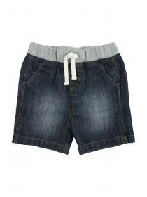 Baby Boys Dark Blue Pull On Shorts