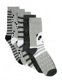Womens 5pk Panda Socks