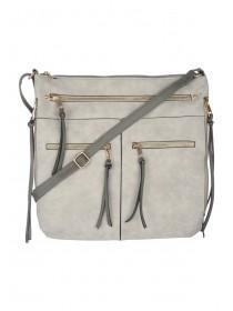 Womens Grey Across Body Bag