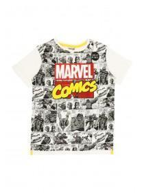 Younger Boys White Marvel Comics T-Shirt