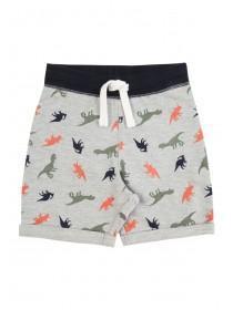Younger Boys Grey Dino Print Shorts