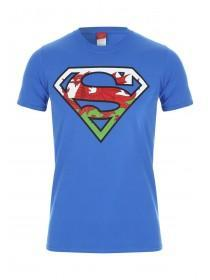 Mens Blue Wales Superman T-Shirt