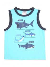 Younger Boys Blue Shark Vest