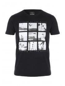 Mens Black Surf Photobox T-Shirt