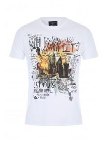 Mens Natural New York City Slub T-Shirt