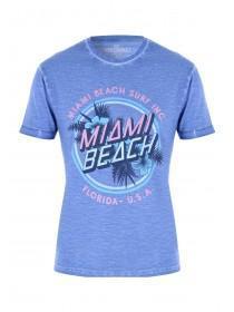 Mens Purple Retro Miami Beach T-Shirt