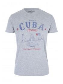 Mens Blue Denim Havana Cuba T-Shirt