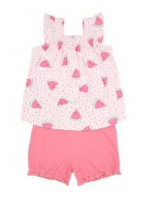 Baby Girls Pink Melon Top & Shorts Set