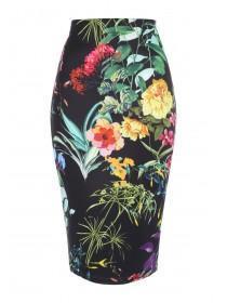 Jane Norman Floral Printed Pencil Skirt