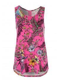 Womens Pink Floral Zip Back Vest