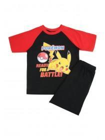 Younger Boys Black Pokemon Pyjama Set