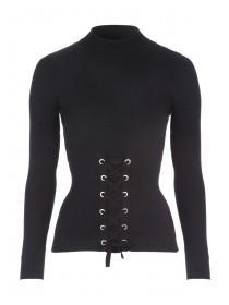 Jane Norman Black Corset Jumper