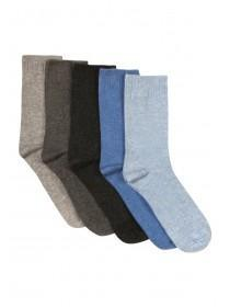 Womens 5Pk Cotton Socks