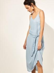 2357069c05e Womens Light Blue Tencel Midi Dress ...