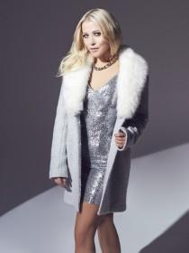 Jane Norman Grey Faux Fur Coat