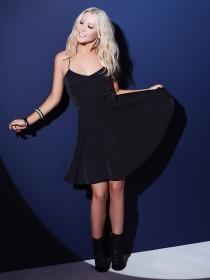 Jane Norman Black Strappy Skater Dress