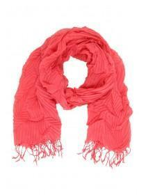 Womens Pink Crinkle Scarf