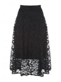 Womens Black Full Lace Skirt