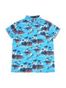 Older Boys Blue Hawaiian Shirt