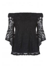 Womens ENVY Bardot Lace Top
