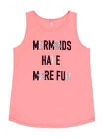 Older Girls Pink Mermaid Vest