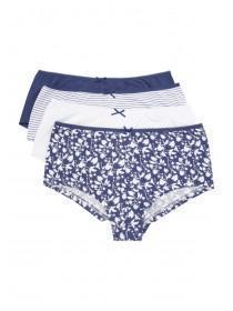 Womens 4PK Blue Shorts