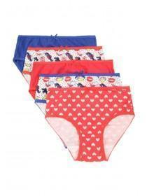 Older Girls 5pk Printed Briefs