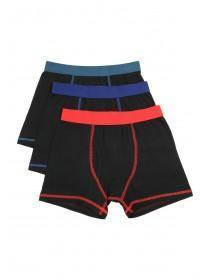 Older Boys 3PK Black Trunks