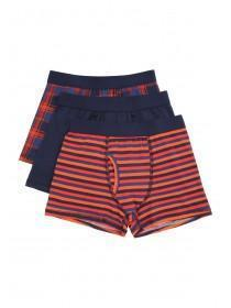 Boys 3pk Patterned Trunks