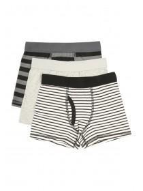 Younger Boys 3pk Grey Stripe Boxers