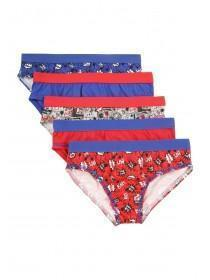 Boys 5pk Printed Briefs