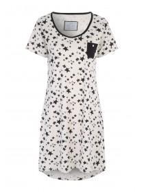 Womens Cream Star Print Nightshirt
