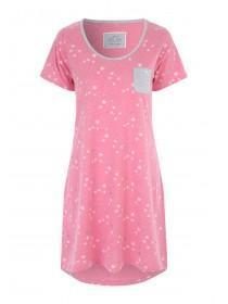 Womens Pink Star Print Nightshirt