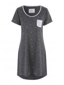Womens Charcoal Star Nightshirt