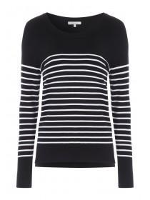 Womens Monochrome Stripe Jumper