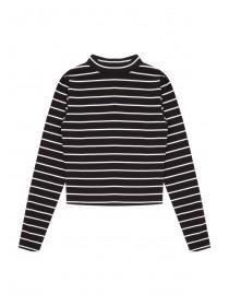 Older Girls Stripe Turtle Neck Top