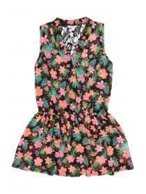 Older Girls Printed Chiffon Dress