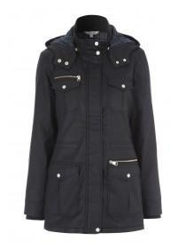 Womens Black Wax Jacket
