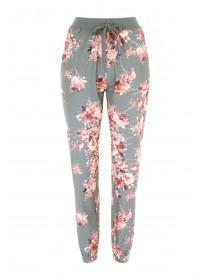Womens Floral Print Lounge Trousers