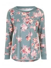 Womens Floral Print Lounge Top