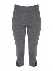 Womens Grey Active Cropped Leggings