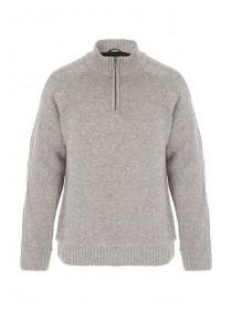 Mens Natural Funnel Neck Jumper