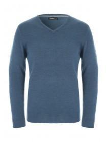 Mens V Neck Teal Jumper
