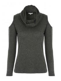 Womens Cold Shoulder Cowl Top