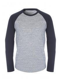 Mens Blue Raglan T-Shirt