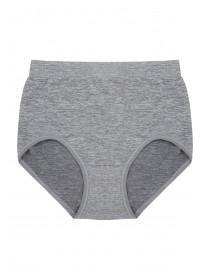 Womens Grey Seam Free High Leg Briefs